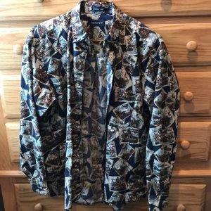 GANT WESTERN LONG SLEEVE BUTTON UP